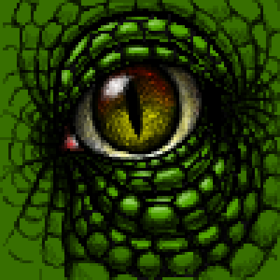 pixel art DinoEye dinosaur BlackDragon eye contest green realistic shiny by BlackDragon piq