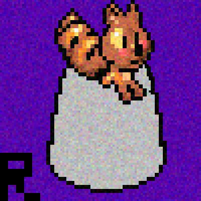 pixel art Squirrel thinking. By:rômulo nitrome wallpapers by romullo piq