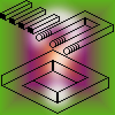 pixel art illusion