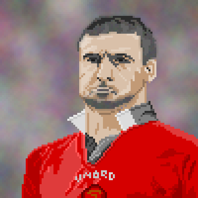 pixel art King Eric ah ooh Cantona Eric the King by pocket_nine9s piq