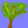 some blurry tree