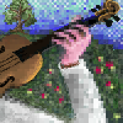 pixel art Summer violinist violinist nature by pixelwiz piq