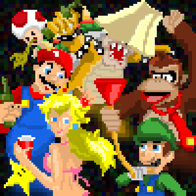 pixel art Mario Party mario mario party contest by voodoomoocow piq