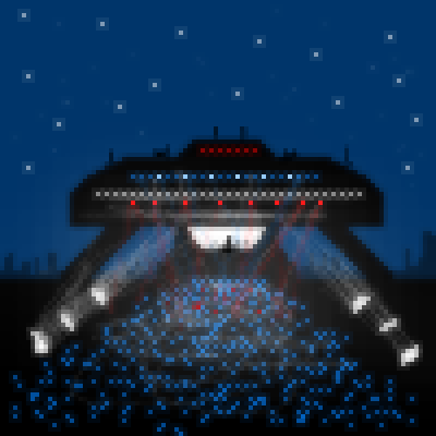 pixel art UFO Party by jmgandalf piq