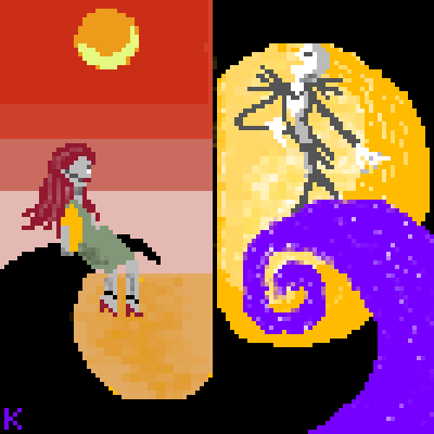 piq - Day and Nite | 100x100 pixel art by Kgustafso