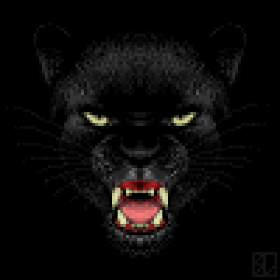pixel art Black Panther contest panther kitty