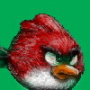 angry red