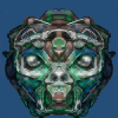 pixel art alien helmet by jmgandalf piq