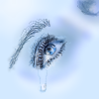 pixel art crying eye by jmgandalf piq