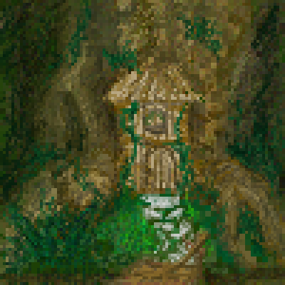 pixel art Hidden in the Forest hidden door forest by miss m piq