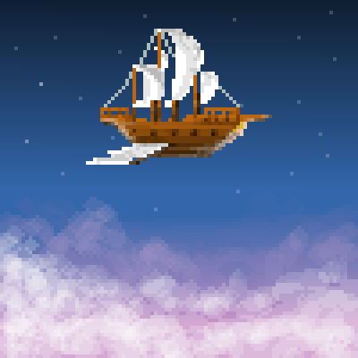 pixel art above the clouds by jmgandalf piq