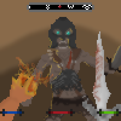 pixel art SKYRIM Scrolls Fire Awesome V Elder 5 Draugr Sword Skyrim : Blood by Ztv1997 piq