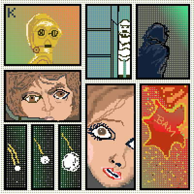 pixel art Vintage Star Wars Comic ☺ Star Wars Kgirl comic classic by Kgustafso piq