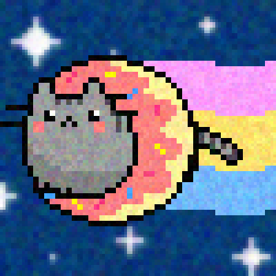 pixel art Fat Nyan Cat nyan noise creator fat cat 8-bit by 8-bit Creator piq