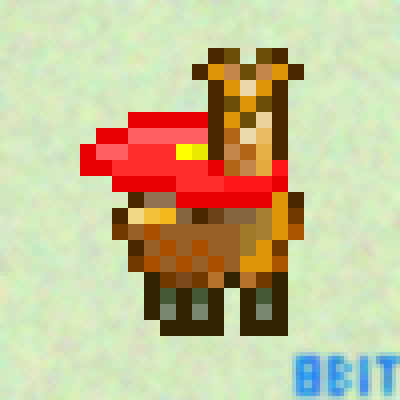 pixel art It's a Bird! It's a Plane! No, it's Super Llama! (c) art creator llama cape 8-bit super deviant by 8-bit Creator piq
