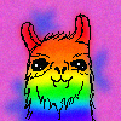 pixel art Rainbow LLAMA wg rainbow copperspca name awesome llama epic mascot by wolfgirl456 piq