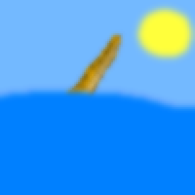 pixel art We can all see you, Mr. Narwhal :) wg sun sky ocean water mr. cloudless sea horn narwhal by wolfgirl456 piq