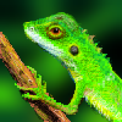 pixel art lizard by jmgandalf piq