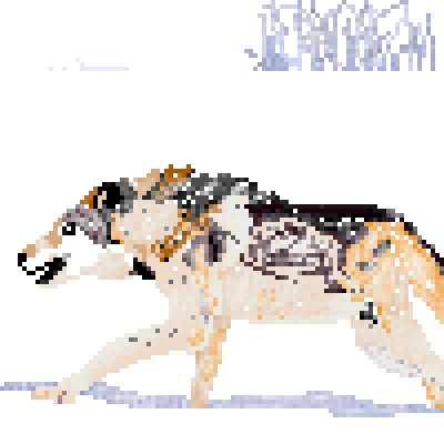 pixel art LOBO lobo dog wolf snow snowy run running by pixelover piq
