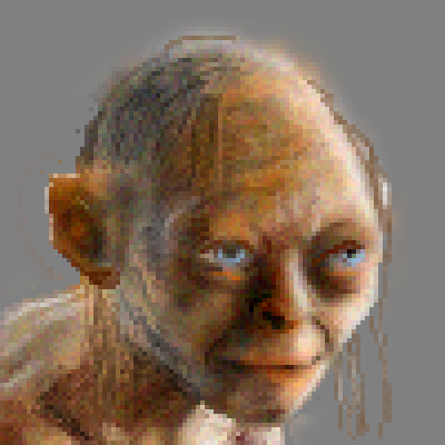 pixel art gollum by jmgandalf piq