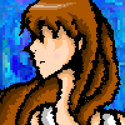 pixel art Put it Behind You fire tool Anime shadowed eyes by ChibiLittle245 piq