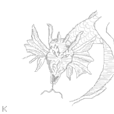 pixel art Dragon Sketch Kgirl sketch free hand grey Dragon by Kgustafso piq
