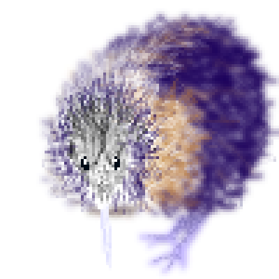 pixel art Kiwi kiwi brown purple fruit weird bird by pixelover piq