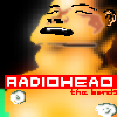 pixel art Radiohead: The Bends album cover radiohead the bends art by sichiu piq