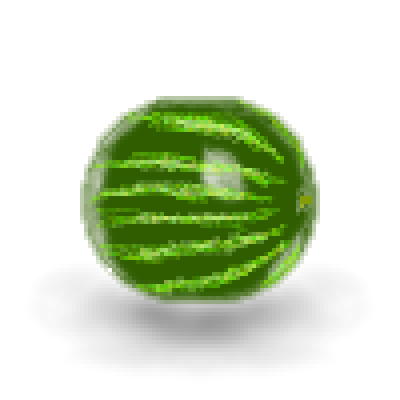 pixel art pixelized watermelon yummy food highlights stripes yellow fruit green watermelon shadow red by pixelover piq