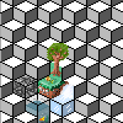 pixel art tree and flower by emxtyx piq