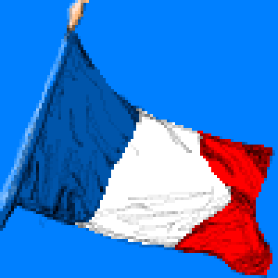 pixel art French Flag blue sky flag french white pixel red fran