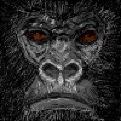 pixel art Gorilla Power brown power gorilla black animal pixel by Masto91 piq