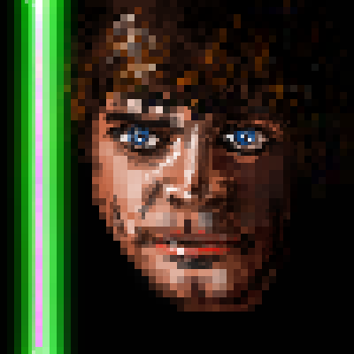 pixel art Luke Skywalker star wars sith jedi light saber Luke Skywalker by sichiu piq