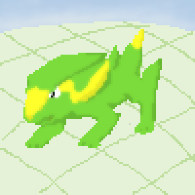 pixel art ...electrike... blue electrike dog yellow electirc green white pokemon by pixelover piq