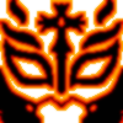 pixel art The Mask of fire mysterio rey fire mask lucha wwe wrestling libre catch pixel by Masto91 piq