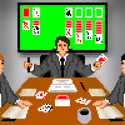 pixel art Solitaire Board Meeting play work solitaire by sichiu piq