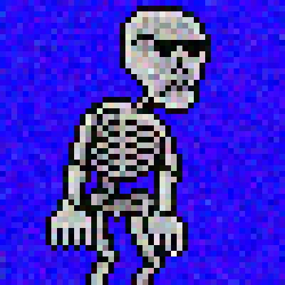 skeleton with glasses