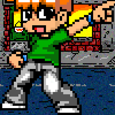 pixel art Scott Pilgrim world The vs Scott Pilgrim by Xikuza piq