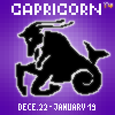 pixel art Capricorn monster 22 capricorn december sign 19 january zodiac by Masto91 piq