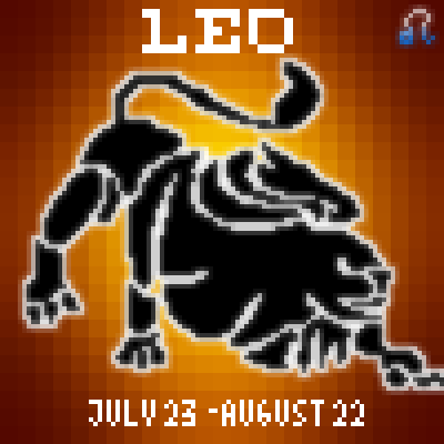 pixel art Leo  august 22 23 fire leo lion animal zodiac sign july by Masto91 piq