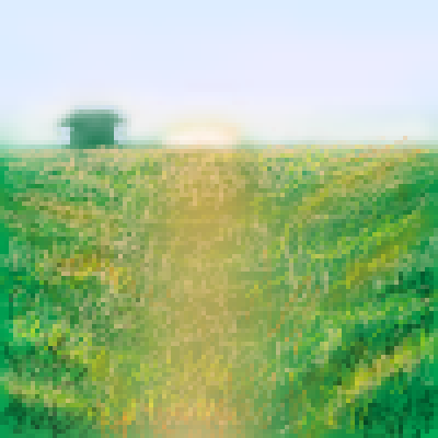 pixel art sunset at country side by jmgandalf piq