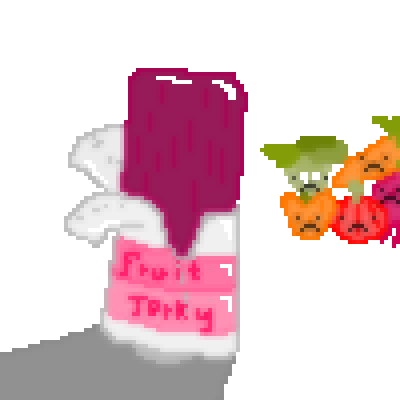 pixel art Jelly of Fruit Jerky and veg jerky fruit jelly by Tube_Town piq
