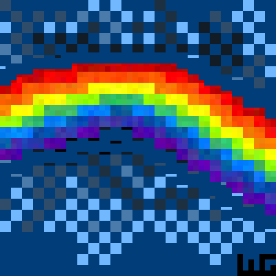 pixel art Rainbow in the Sky wg Rainbow space sky wolfgirl456 in the by wolfgirl456 piq