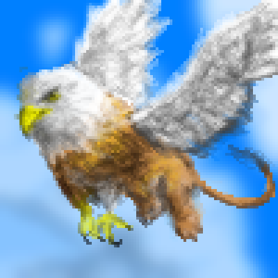 pixel art Gryffin eagle monster potter lion animal harry mythology mythical by Masto91 piq