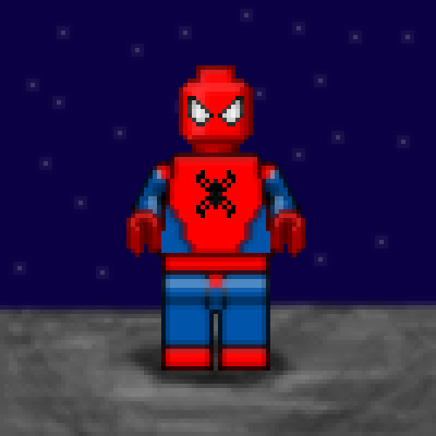 pixel art Lego SpiderMan hero spiderman suit spider night marvel super man by Masto91 piq