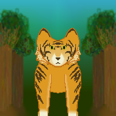 pixel art Tiger WIP Tiger WIP jungle in by Joy-Kitten piq