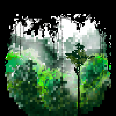 pixel art Outside World ourside jungle by miss m piq