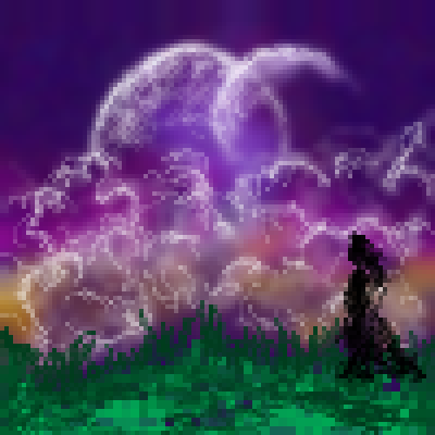 pixel art Moonlight moonlight sky night by miss m piq