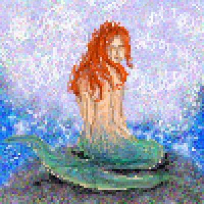 pixel art The Mermaid mermaid by miss m piq
