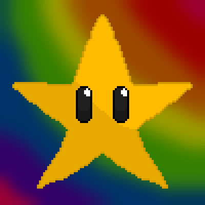 pixel art Super Star wg golden star rainbow invincible yellow wolfgirl456 Mario colors sexy by wolfgirl456 piq